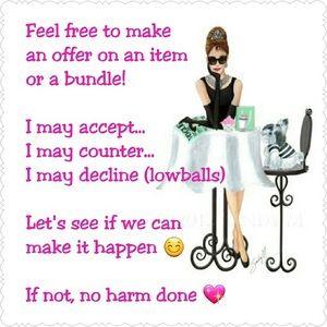 Make me an offer 😘